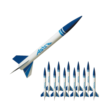 Astra 1 Bulk Pack. Set of 12 Rockets