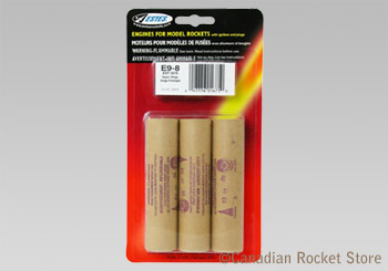 E9-8 Mid-Power rocket engines. 3 Pack