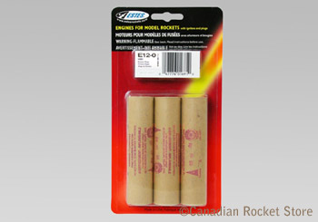 E12-0 Mid-Power rocket engines. 3 Pack