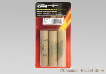 E12-4 Mid-Power rocket engines. 3 Pack