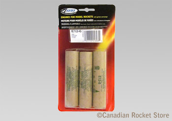 E12-6 Mid-Power rocket engines. 3 Pack