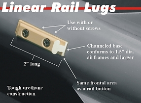 "1.0"" (1010 ) Linear Rail Lugs. 2 pack"