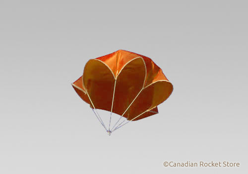 "45"" Neon Orange Nylon Parachute"