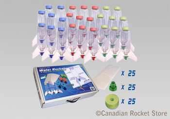 Water Rocket Class Pack with 25 rockets