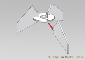Water Rocket Fin Set